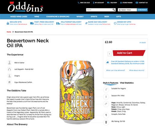 Oddbins UX Refresh across the site